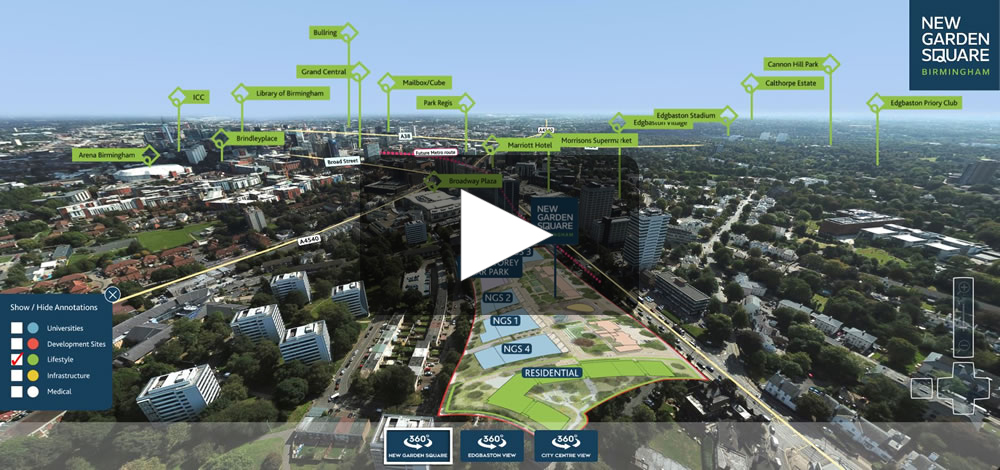 Birmingham City Centre Proposed Development Site