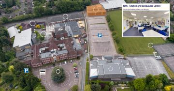 Godalming College aerial view